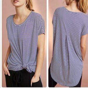 Anthropologie Floreat Striped Short Sleeve Tunic